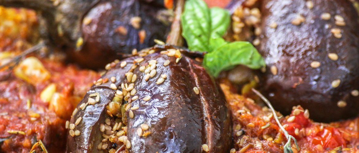 Eggplant in Red Wine