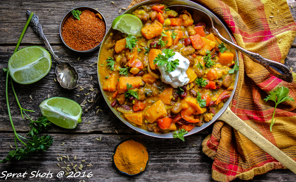 Jackie Fraser-Dunfield Sweet Potato Curry with Red Beans.