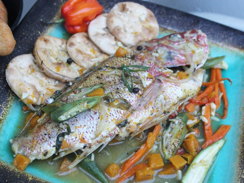 Steamed fish with okra cooking sense magazine for Jamaican steam fish