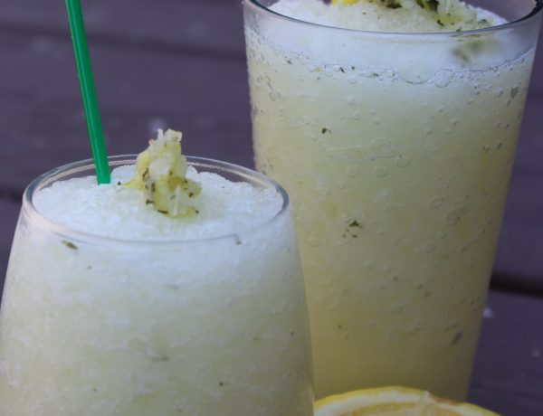 Frozen Ginger-Mint Lemonade