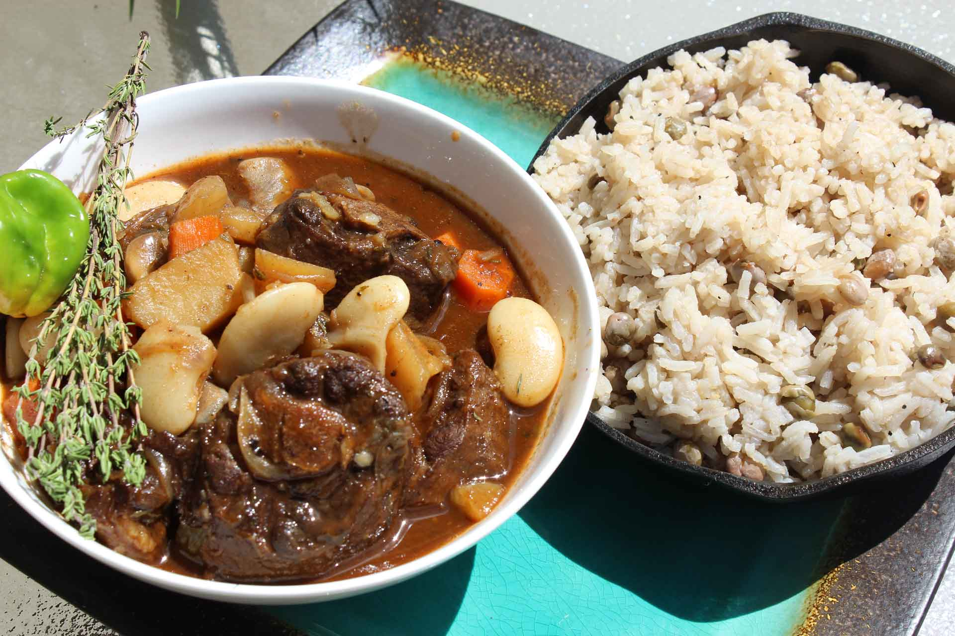 jamaican braised oxtail  beans  cooking sense magazine