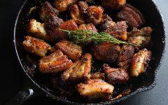 garlic pork, caribbean food