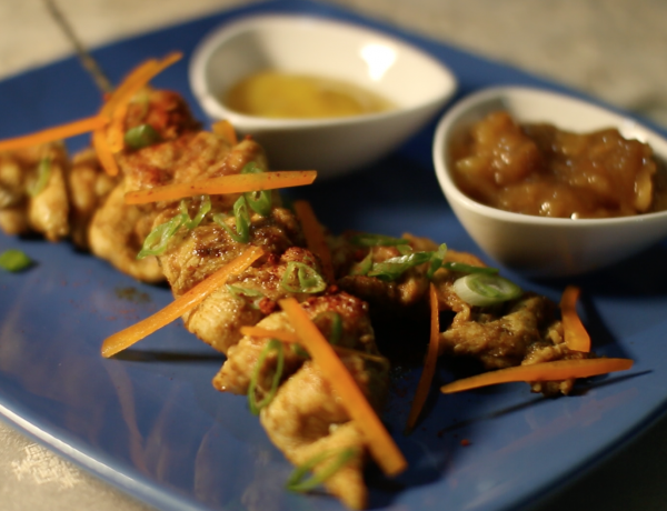 Curry & Massala Chicken Skewer