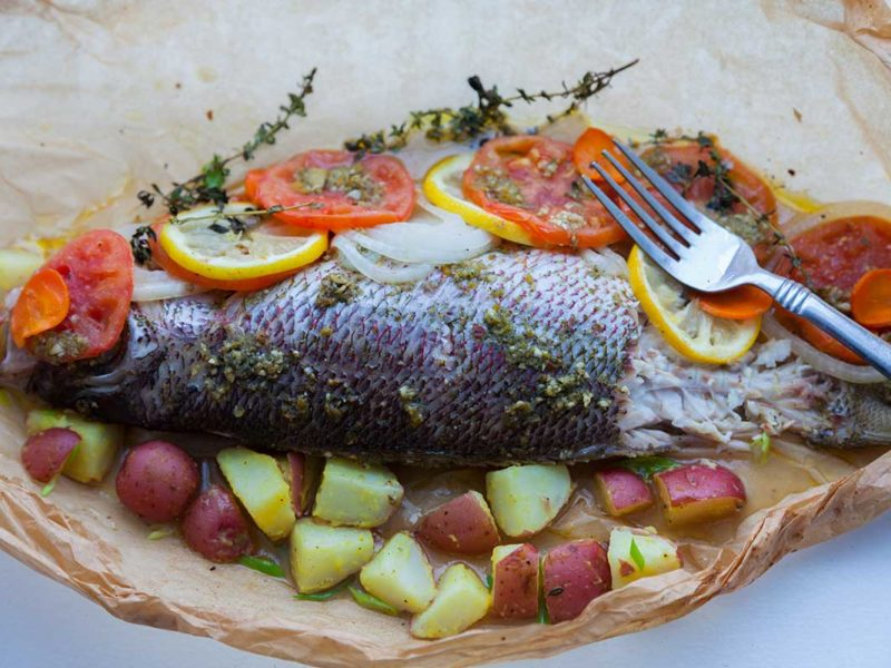 Fish in Parchment Paper