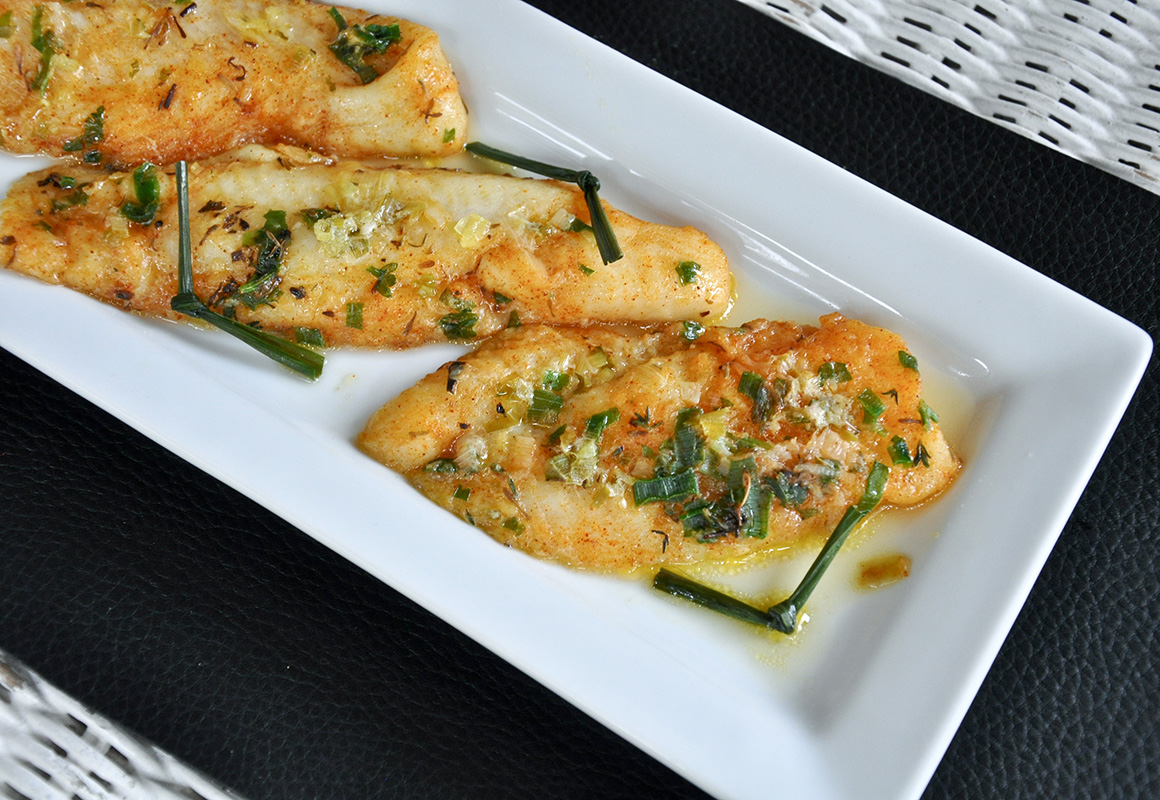 Steamed Fish with Chive & Lemongrass Butter